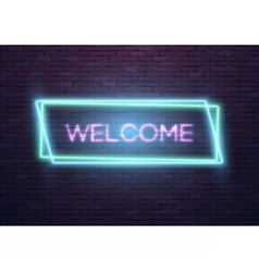 Neon frame glowing neon sign vector