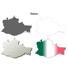 Oaxaca blank outline map set vector image vector image