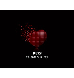 pixel heart Valentine Day background vector image vector image