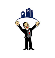 property businessman vector image vector image