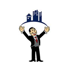 Property businessman vector