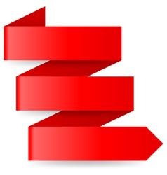 Red paper arrow vector
