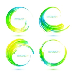 Set of colorful circle abstract frames vector image vector image