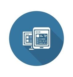 Shop APP Icon Flat Design vector image