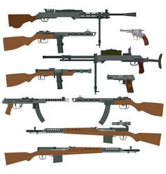 soviet weapons of world war ii vector image