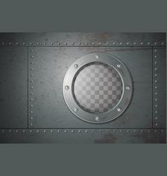 Submarine side porthole vector