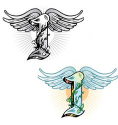 Tattoo letter i vector