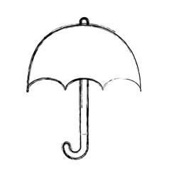 umbrella silhouette isolated icon vector image