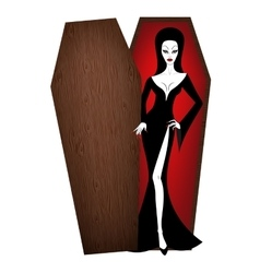 vampire woman vector image