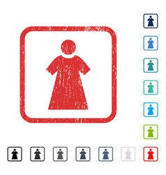 Woman icon rubber watermark vector