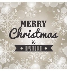 Happy merry christmas card isolated vector