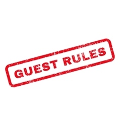 Guest rules text rubber stamp vector