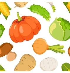 Healty food cartoon seamless pattern vector
