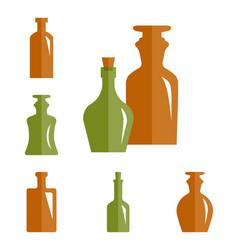 old retro medicine bottle icon vector image