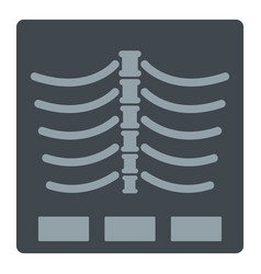 X ray photo icon isolated vector