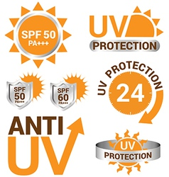 Set of uv sun protection and anti uv vector