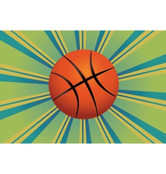 Basketball ball background vector
