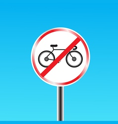 Bicycles prohibited sign vector