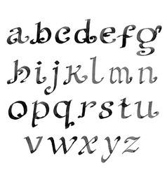 Hand drawn letters vintage alphabet ink vector image