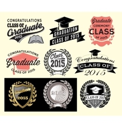 Graduation sector set for class of 2015 vector