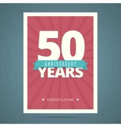 50 year anniversary card vector