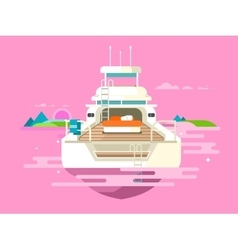 Yacht flat design vector