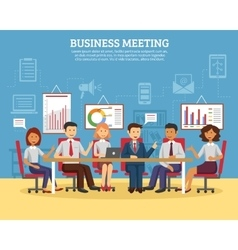 Business meeting flat vector