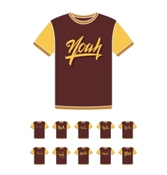 T-Shirt design with the personal name Noah vector image
