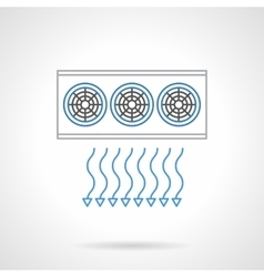 Air ventilation flat line icon vector