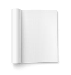 Blank open magazine template wide format vector
