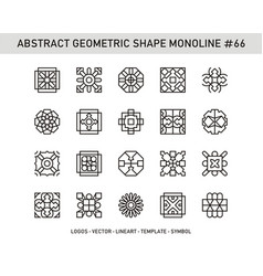 Abstract geometric shape monoline 66 vector