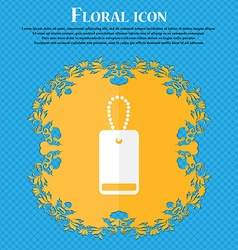 Army chains icon sign floral flat design on a blue vector