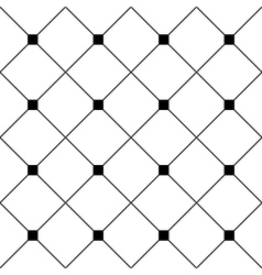 Black Square Diamond Grid White Background vector image vector image