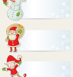 Christmas congratulation stickers vector image vector image