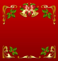 christmas vintage frame vector image