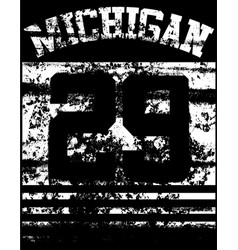 College michigan typography t-shirt graphics vector