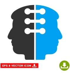 Dual head interface eps icon vector