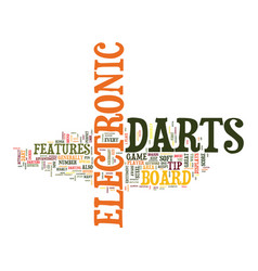 Electronic darts text background word cloud vector