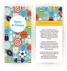 Flyer Template of Sport and Fitness Objects and vector image vector image