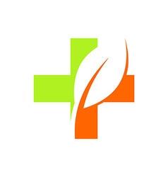 Health medical logo ecology vector