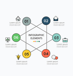 Infographic elements and colorful icons on white vector