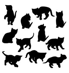 Kitten silhouette vector