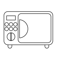 Microwave electric appliance thin line vector