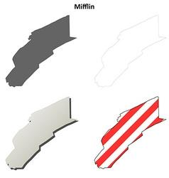 Mifflin Map Icon Set vector image vector image