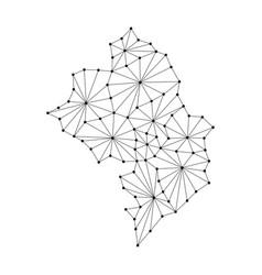 Nagorno-karabakh republic map of polygonal mosaic vector