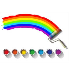 painted rainbow colors on a white background vector image