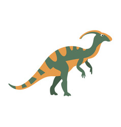 parasaurolophus dinosaur of jurassic period vector image vector image