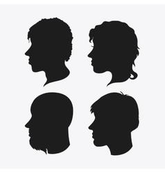 people head silhouette design vector image