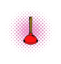 Plunger comics icon vector