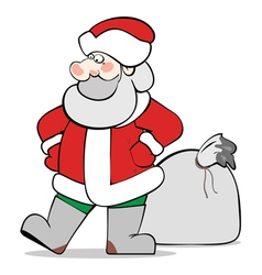SantaClaus isolated vector image vector image